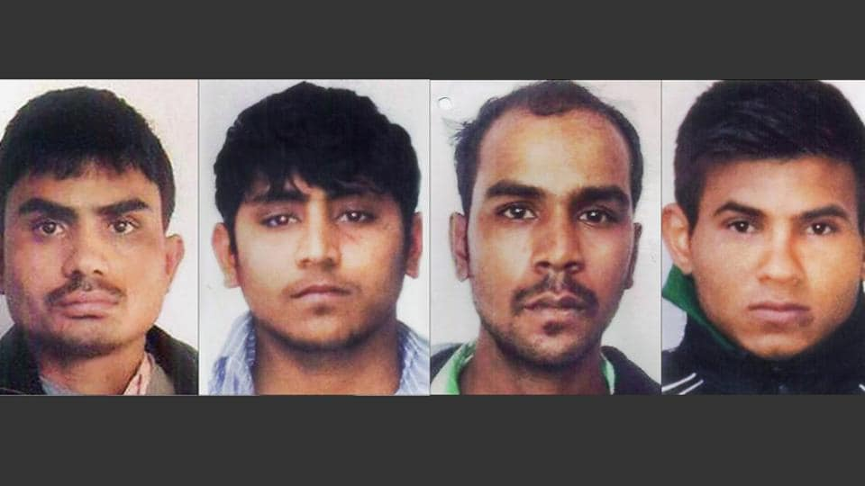 Delhi gang rape case convicts, clockwise from top left, Akshay Thakur, Vinay Sharma, Pawan Gupta and Mukesh Singh.