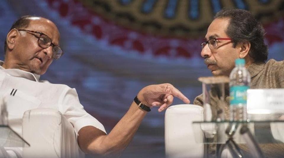 NCP President Sharad Pawar and Shiv Sena chief Uddhav Thackeray.
