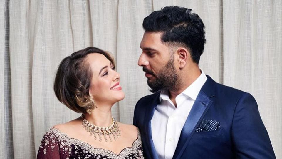 Cricketer Yuvraj Singh and actor Hazel Keech for married in November 2016.