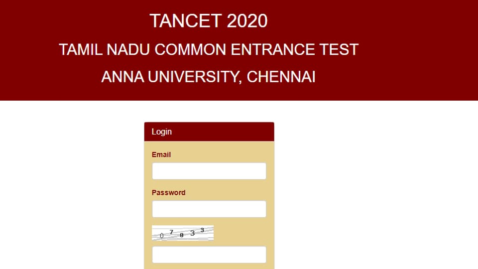 TANCET Admit Card released