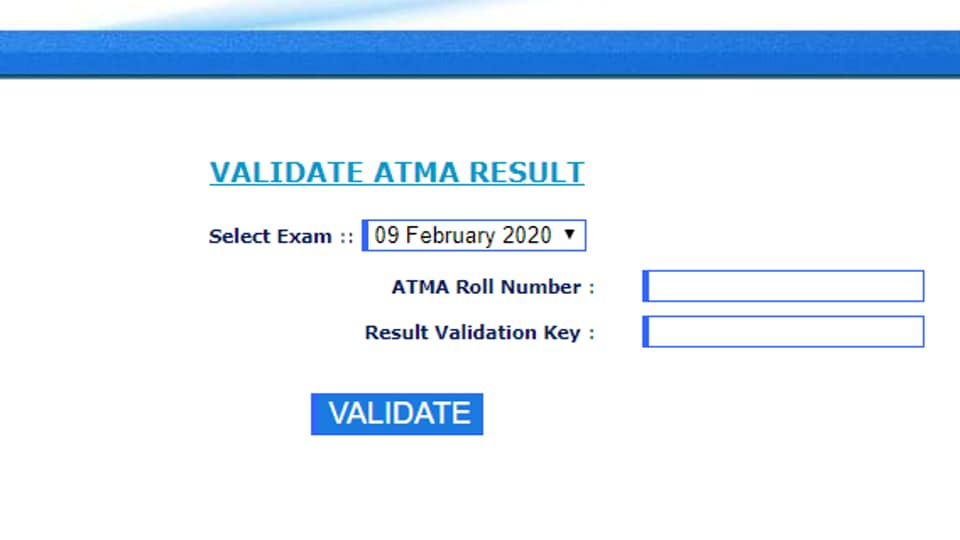 ATMA 2020 Result out