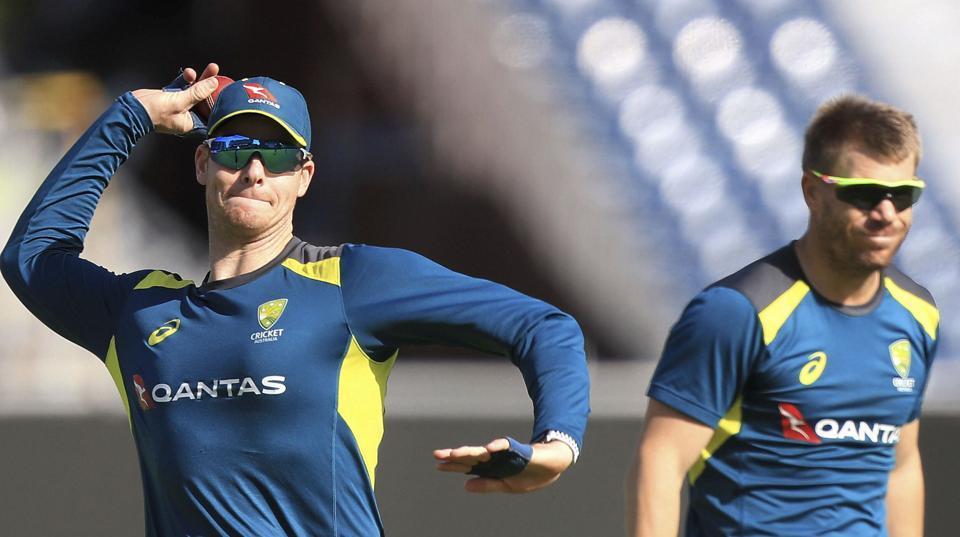 File image: Australia's Steve Smith, left, and David Warner