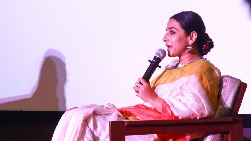 Vidya Balan addresses at Finding Mother Conference at St Xaviers College in Mumbai.