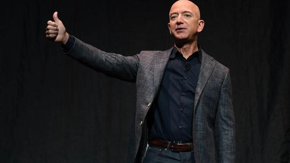 It's something of a style makeover for Bezos, 56, whose once-low-key personal life has been a source of frequent headlines since he and MacKenzie Bezos divorced in 2019.