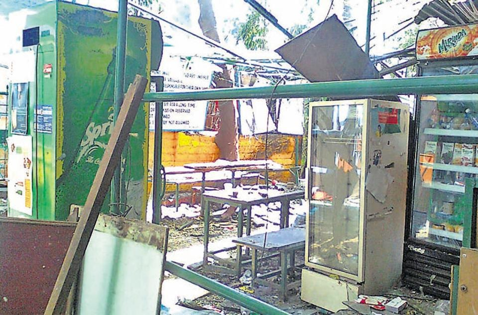 THEN: The inside of the German Bakery in Pune on February 15, 2010, two days after the bomb blast.