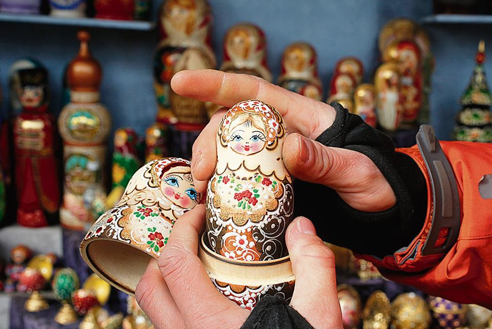 No escape from your mother: Matryoshka or nesting dolls.