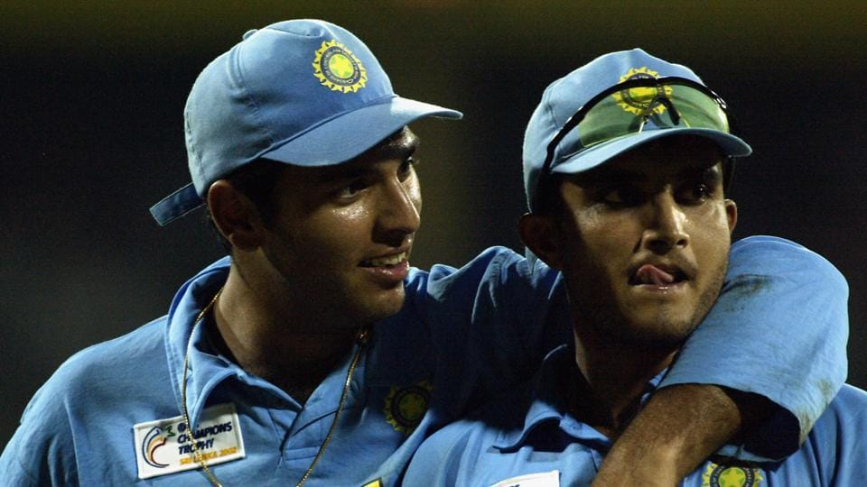 File image of Sourav Ganguly with Yuvraj Singh.