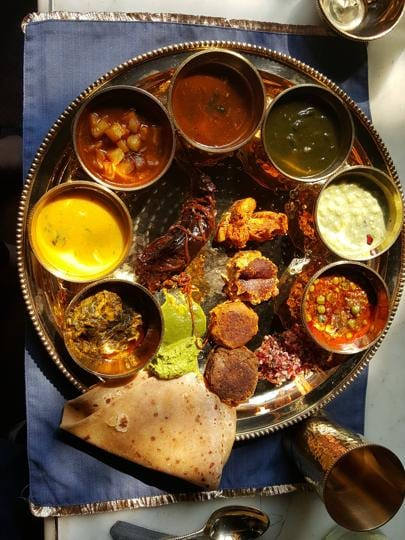 The Royal Malwa Thali served at a pop-up at Flea Bazaar Café was a feast of deliciously different kababs, curries, daals and parathas.