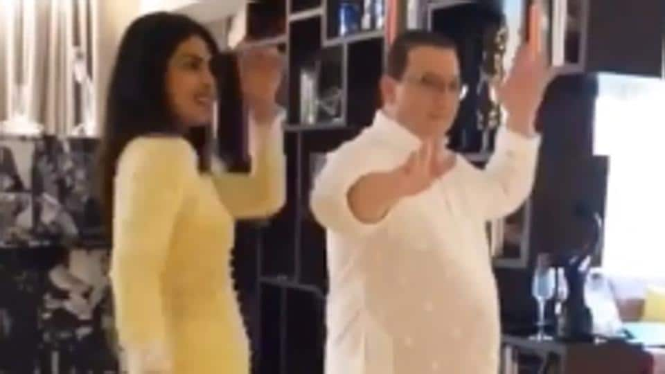 Priyanka Chopra is seen dancing with father-in-law Kevin in video, says 'thank you for being the life of the party'. Watch