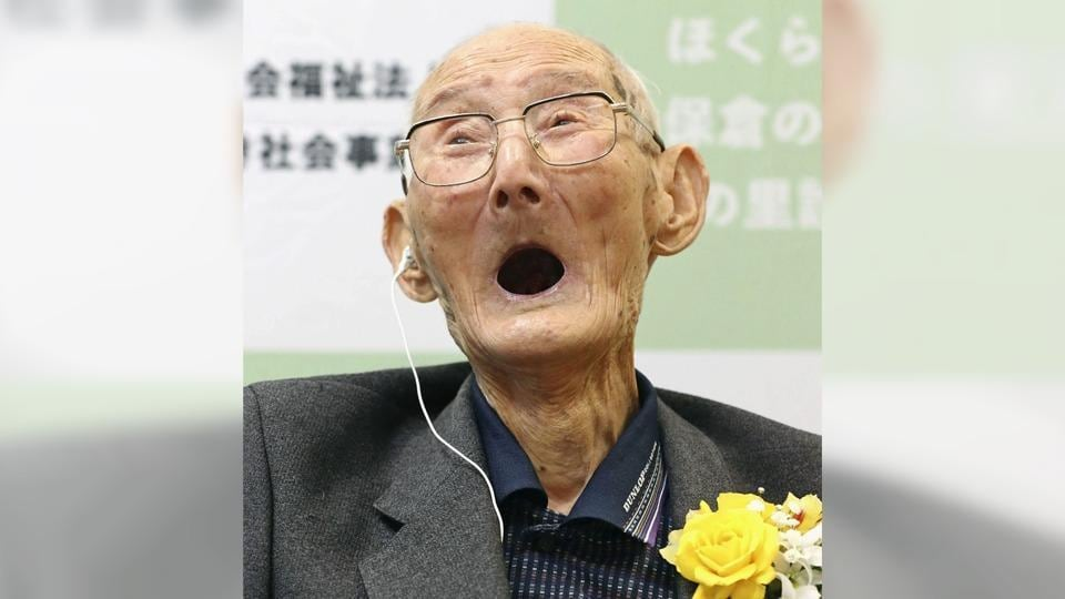 112-year-old Chitetsu Watanabe awarded as the world's oldest living male by Guinness World Records.