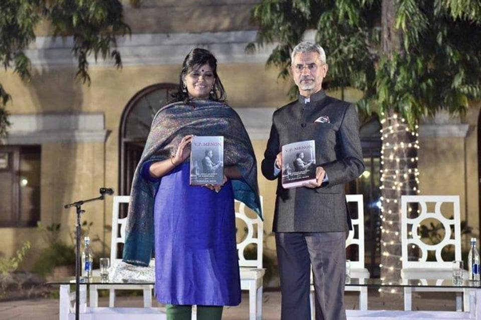 """Foreign minister S Jaishankar at the launch of the book """"VP Menon, the unsung architect of modern India"""" on Thursday."""