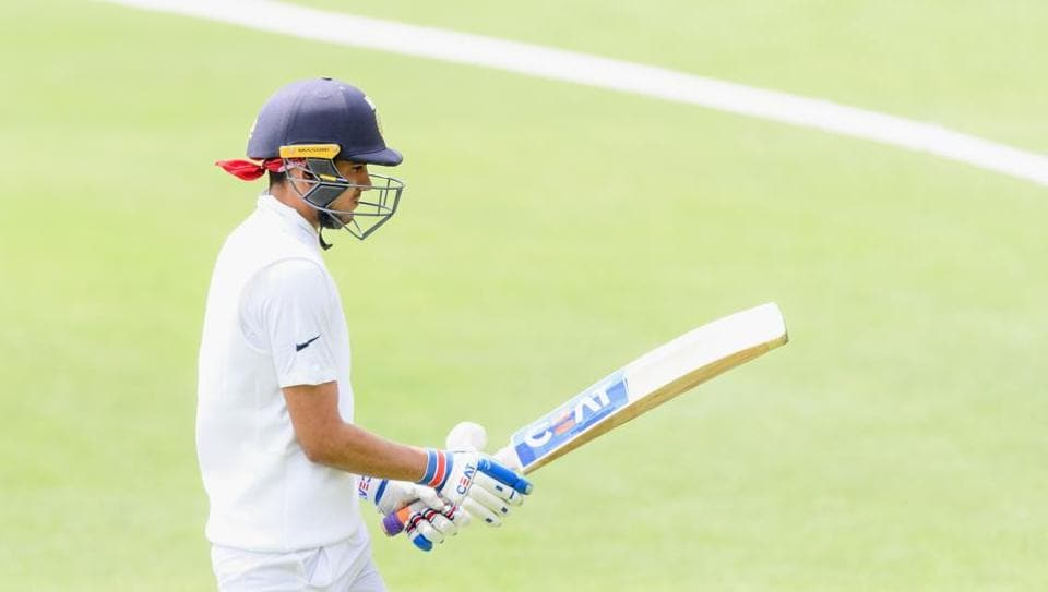 Shubman Gill could not open his account