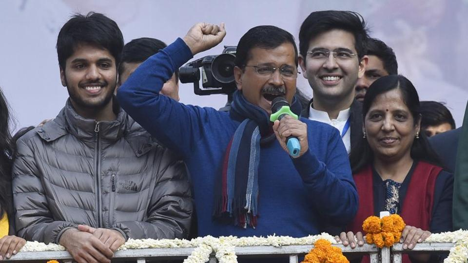 Delhi Chief Minister Arvind Kejriwal-led AAP won a landslide victory in the elections, getting 62 of the 70 seats -- just five short of its record 67-seat tally in the 2015 assembly polls.