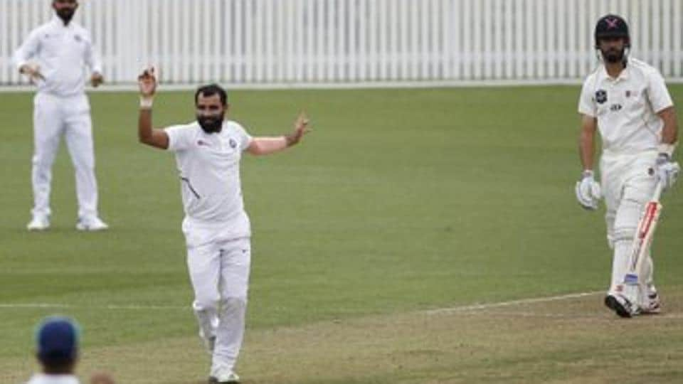 Shami picked up 3 wickets in the warm-up clash