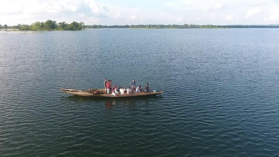 The source for the pollution of the river stretches in Manipur, Mizoram, Nagaland and Tripura is sewage and in the case of Assam it is sewage, industrial effluent and coal mining. A boat sails on Dumboor Lake, Dhalai, Tripura.