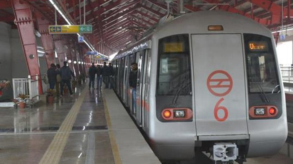 Delhi Metro's Red Line connects Rithala in Delhi to New Bus Adda in Ghaziabad.
