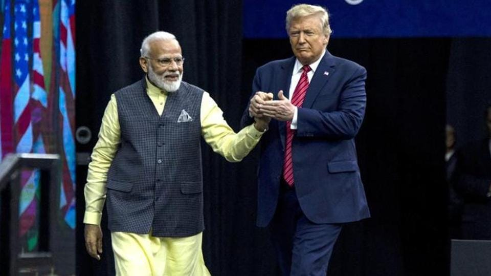 PMNarendra Modi with US President Donald Trump during the Howdy Modi Community Summit in Houston, Texas, US on September 22, 2019.