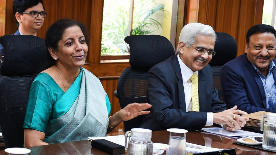 Finance Minister Nirmala Sitharaman, RBI Governor Shaktikanta Das  at RBI central board of directors in a customary post-budget meeting, in New Delhi.