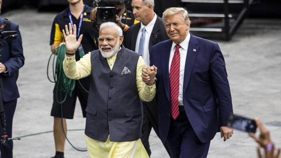 PM Narendra Modi and US president Donald Trump at the Howdy Modi Community Summit in Houston, Texas, US on September 22, 2019.