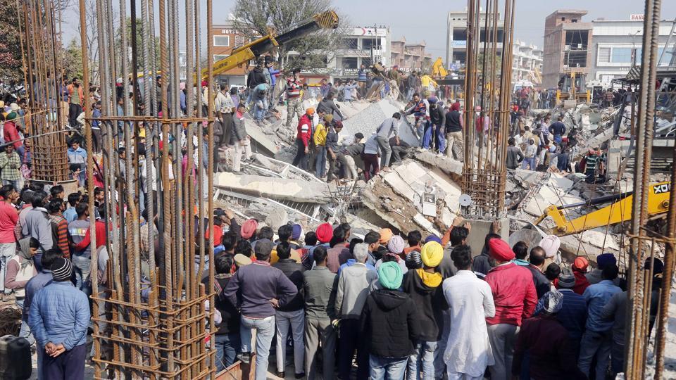 On February 8, a three-storey building had collapsed at Sante Majra village on the Kharar-Landran road, killing a JCB driver, Harvinder Singh, alias Baboo.