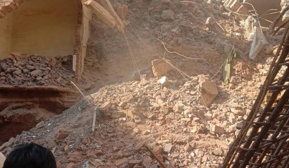 One person was rescued from an under-construction building which collapsed in New Delhi's CR Park.