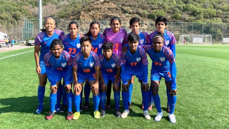 India women's U17 team.