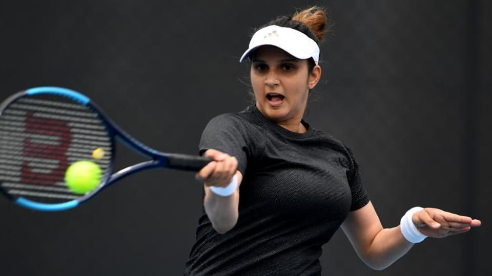 Sania Mirza of India in action.