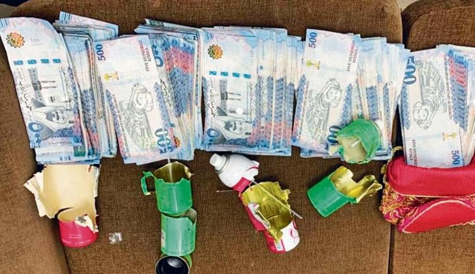 The CISF recovered 1,97,500 Saudi riyals and 2,000 Kuwaiti dinars, amounting to Rs 42.35 lakh.