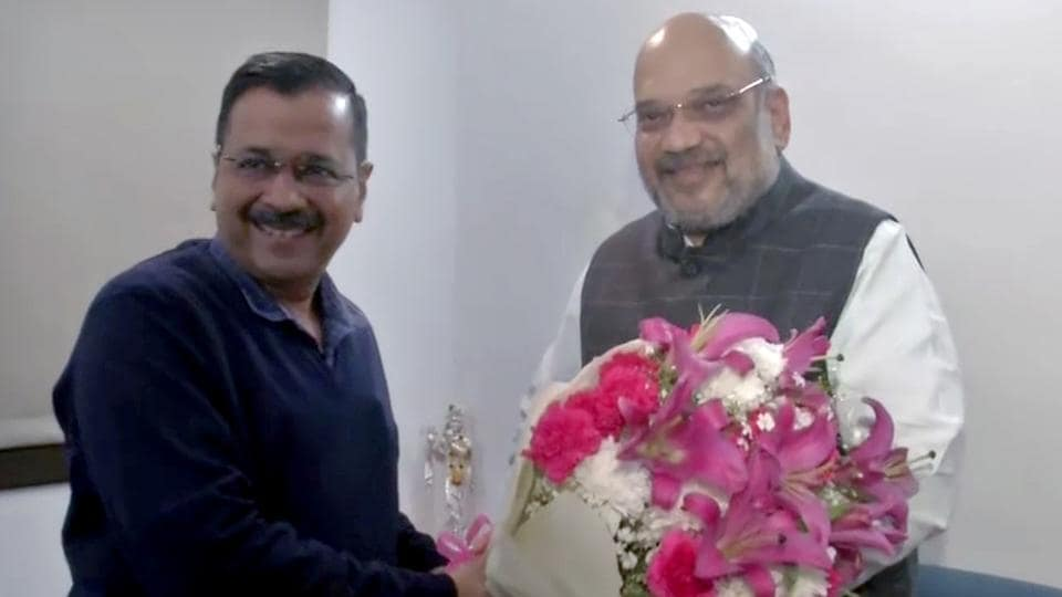 In first meeting after poll sweep, Kejriwal discusses Delhi's ...
