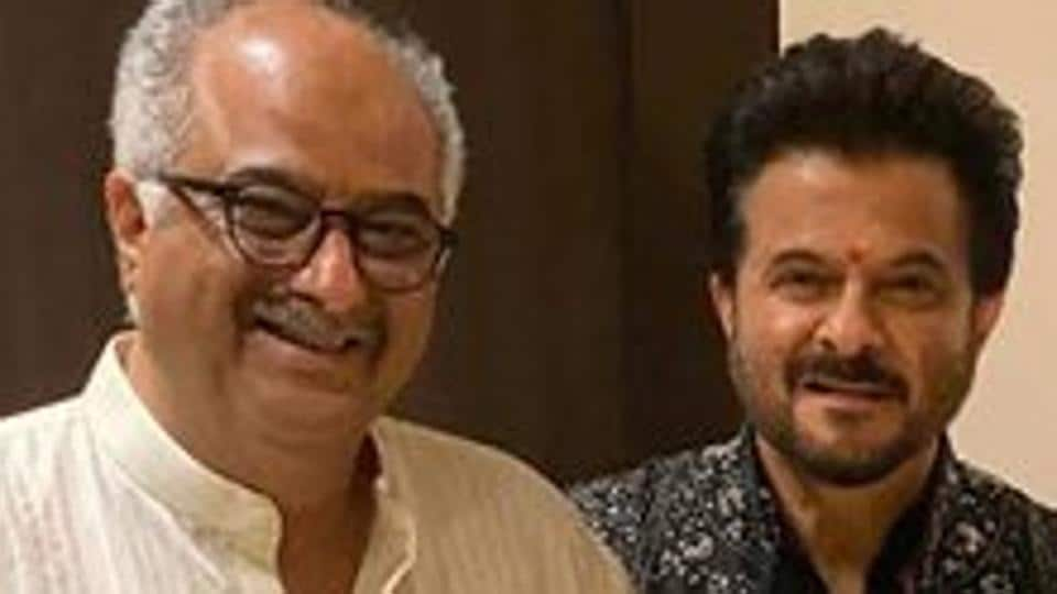 Anil Kapoor poses with brother Boney Kapoor.