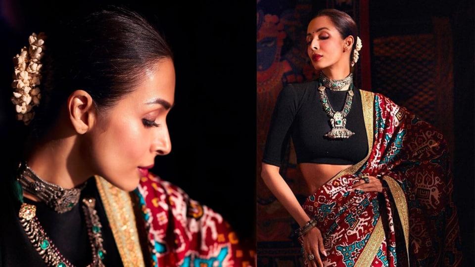 Malaika Arora looks like a 'proper patola' in this Sangeeta Kilachand sari