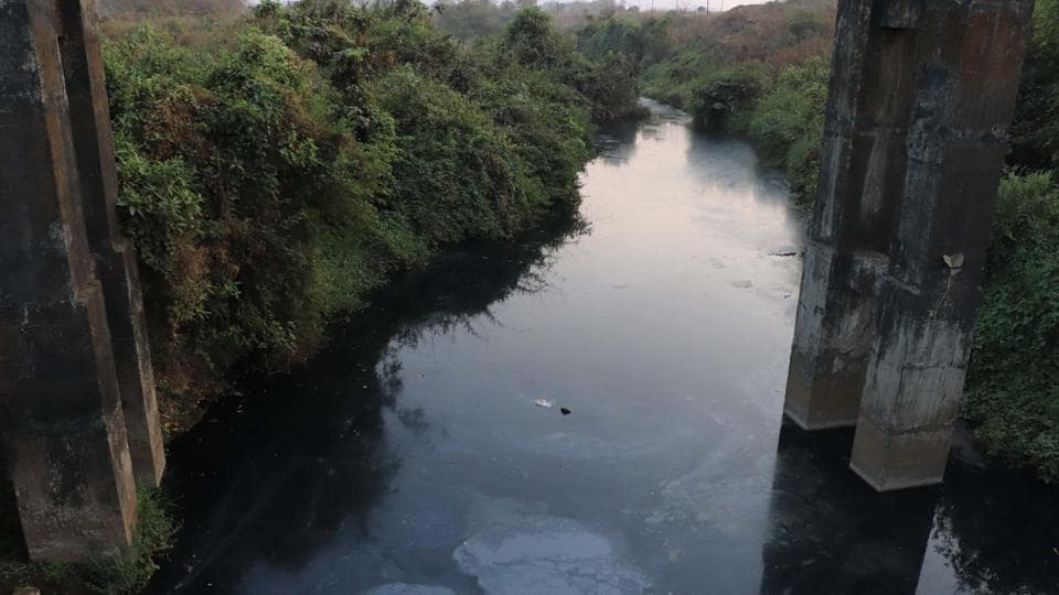 Waldhuni river in Ambernath turned black on Thursday due to chemical effluents released into the water.