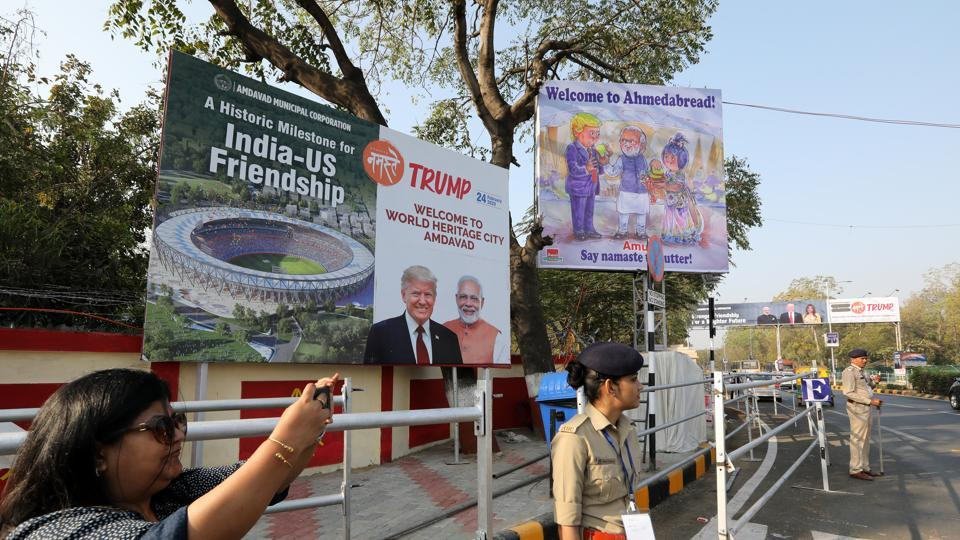 Woman constable takes toddler along to her duty in Ahmedabad as city gears up to welcome US President Donald Trump