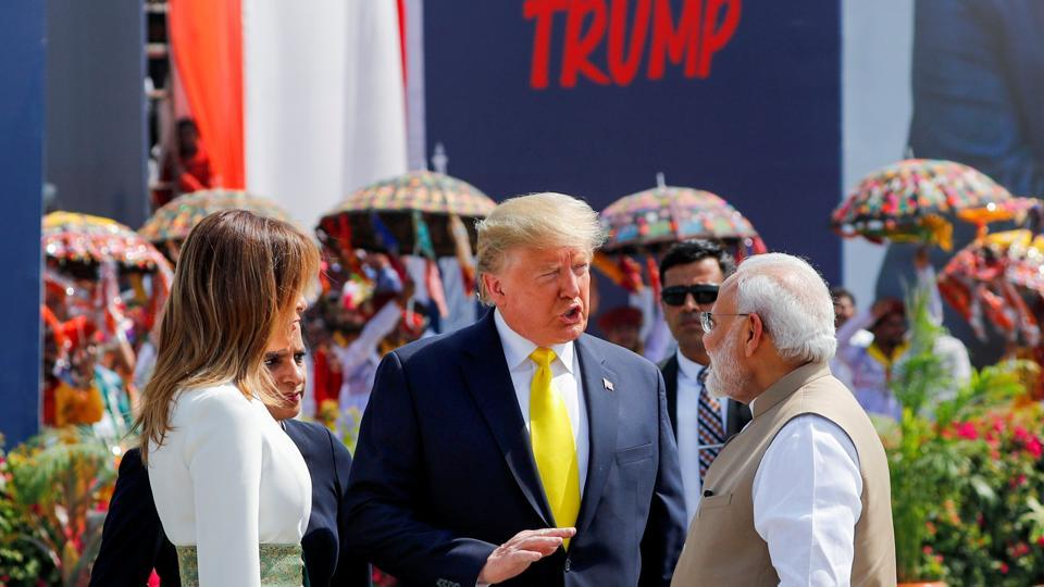 The leaders are scheduled to participate in 'Namaste Trump' rally at the Motera Stadium. Immediately after attending the rally, Trump will be flying to Agra so that he and first Lady Melania Trump can spend about an hour at the Taj Mahal before sunset. The delegation is then scheduled to fly to Delhi, where Trump and PM Modi will hold talks on Tuesday. (Al Drago / REUTERS)
