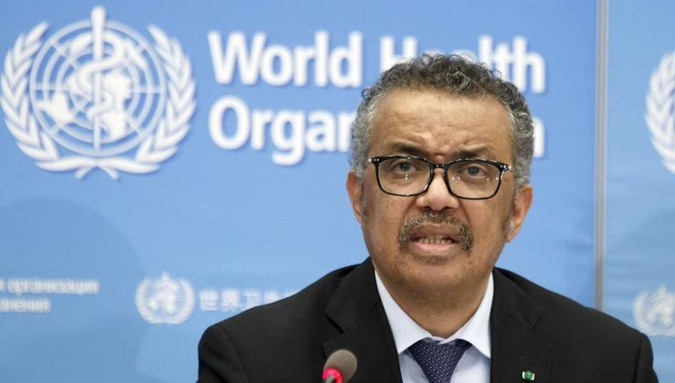 Tedros Adhanom Ghebreyesus, Director General of the World Health Organization (WHO), addresses a press conference about the update on COVID-19 at the World Health Organization headquarters in Geneva, Switzerland, Feb. 24, 2020.