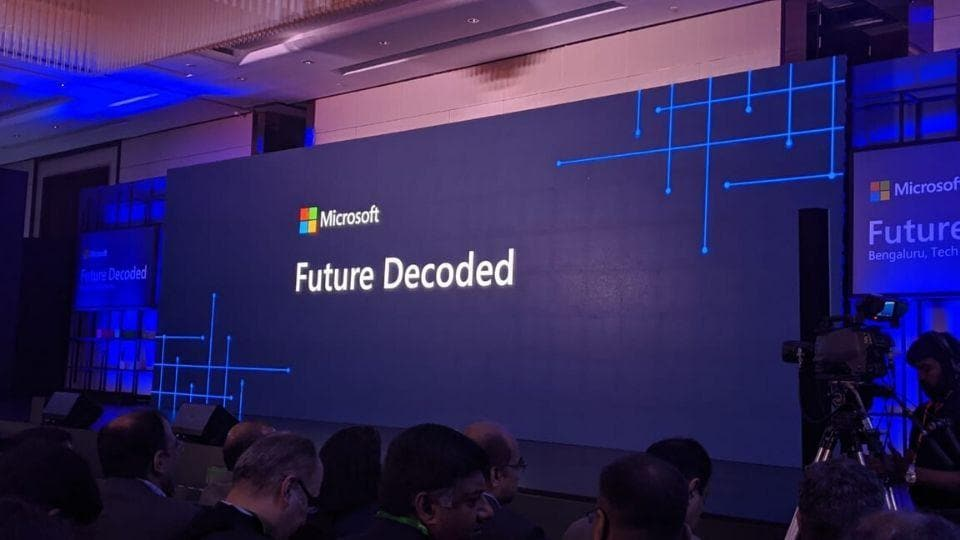 Microsoft is hosting its Future Decoded event at Bengaluru.