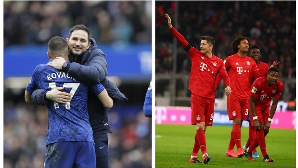 Frank Lampard's Chelsea will take on Bayern Munich in the Champions League.
