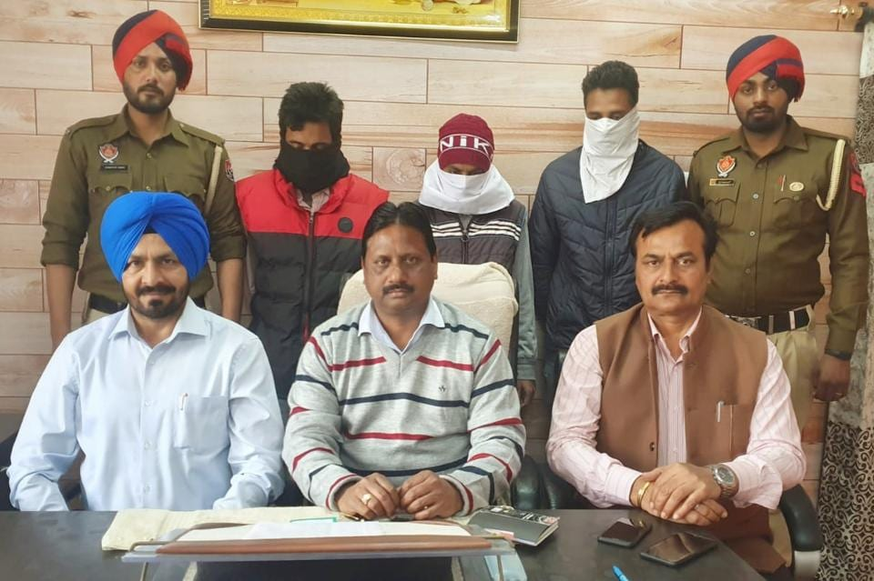 The accused in STF custody in Ludhiana.