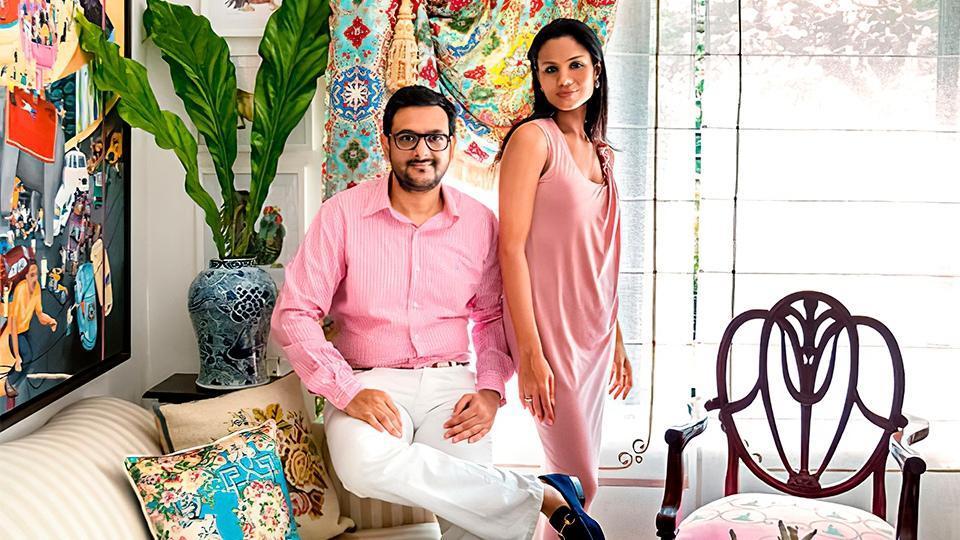 Gaurav Bhatia, Founder, MAISON with his wife Pratima Bhatia.