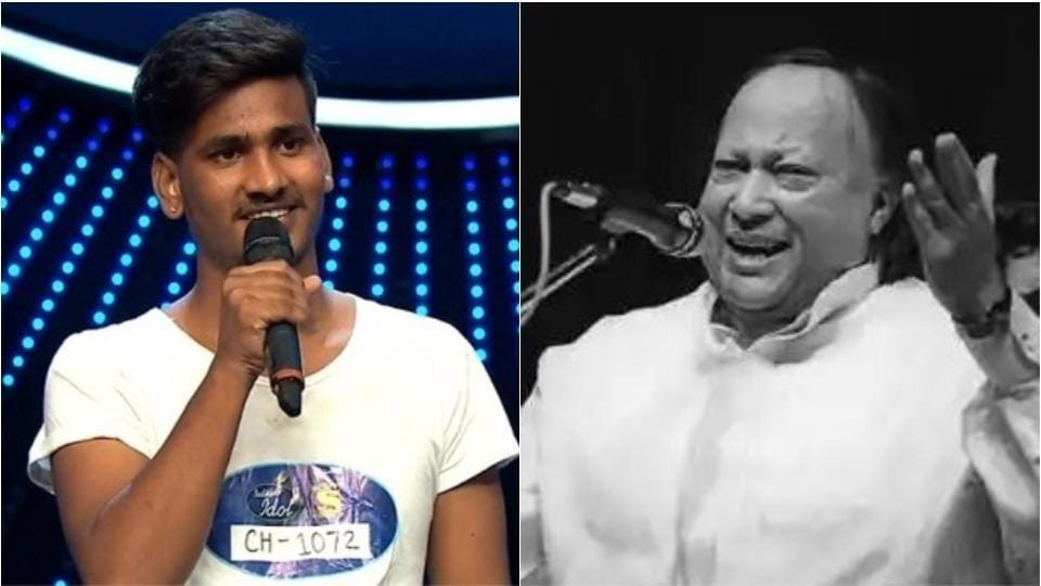 Sunny Hindustani auditioned for Indian Idol with a rendition of Nusrat Fateh Ali Khan's Afreen Afreen.