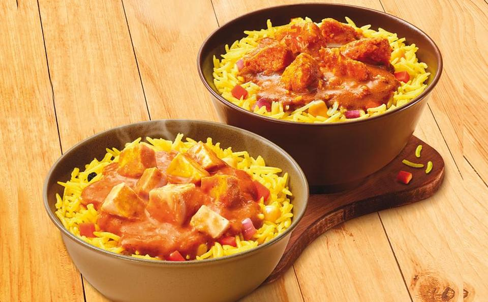 Burger King's chicken-rice bowl and paneer-rice bowl are essentially curry and rice combinations