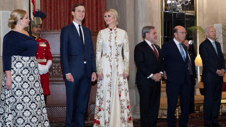 Ivanka Trump wearing the anarkali designed by Rohit Bal