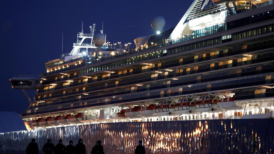 Those allowed off the Diamond Princess ship after a 14-day quarantine were asked to stay inside, but no formal measures restricting their movement were imposed. Feb. 25, 2020.