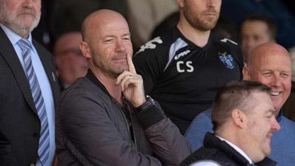 Television pundit and former footballer Alan Shearer in the crowd Mandatory Credit: Action Images / Paul Burrows Livepic