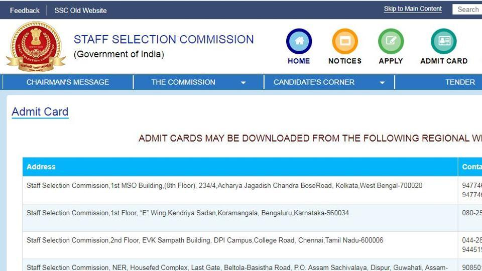 SSC CGL Tier 1 2020 admit card released for most regions, direct link to download