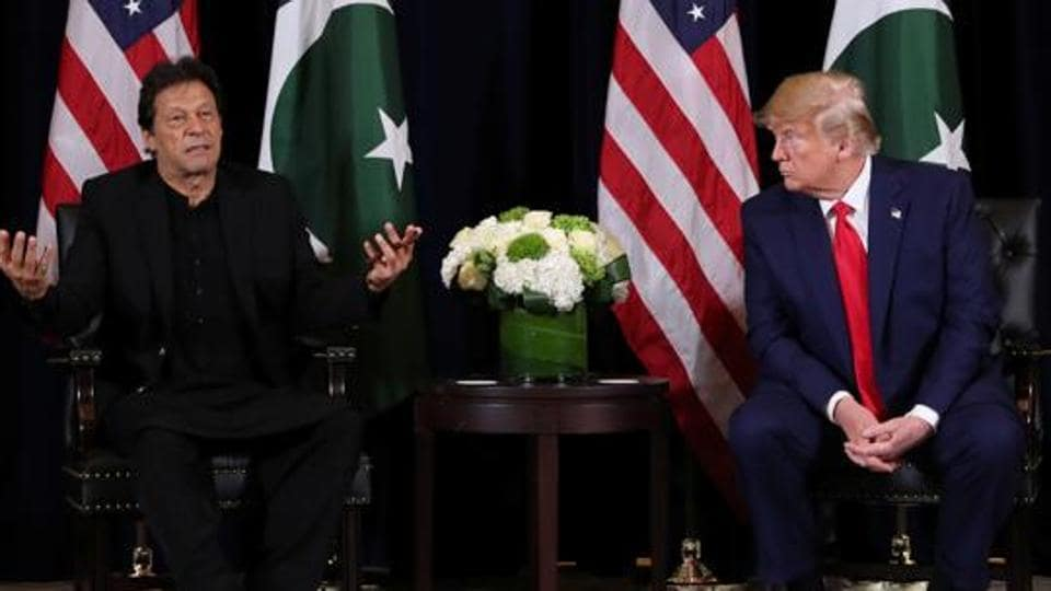 Pakistan Prime Minister Imran Khan with United States President Donald Trump.