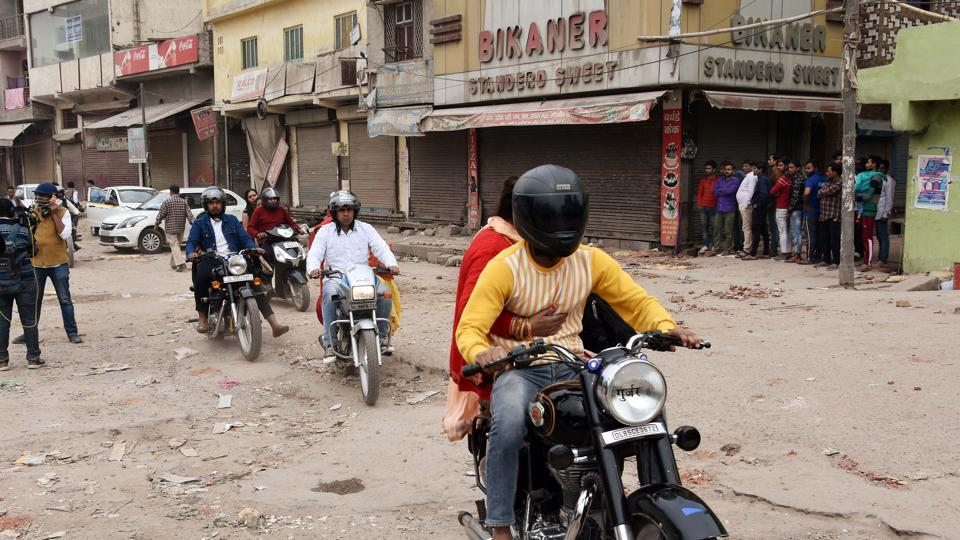 As shops and businesses ar e opening again in violence affected areas of North East Delhi, the Delhi Police have continued with their patrols in the area in an effort to restore peace.