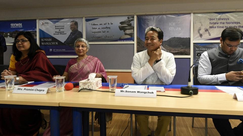 Noted education reformist and innovator, Sonam Wangchuk in Lucnow to attend the 14th National Conference IIC 2020 as chief guest at Jaipuria Institute of Management.