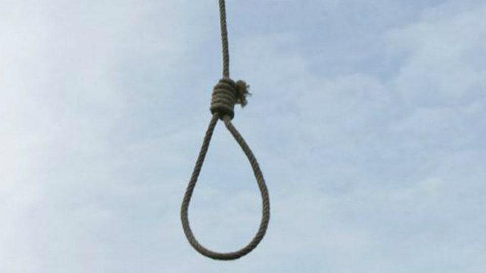 The body of the 27-year-old man was found hanging from the ceiling in the family's rented accommodation in Ghaziabad.