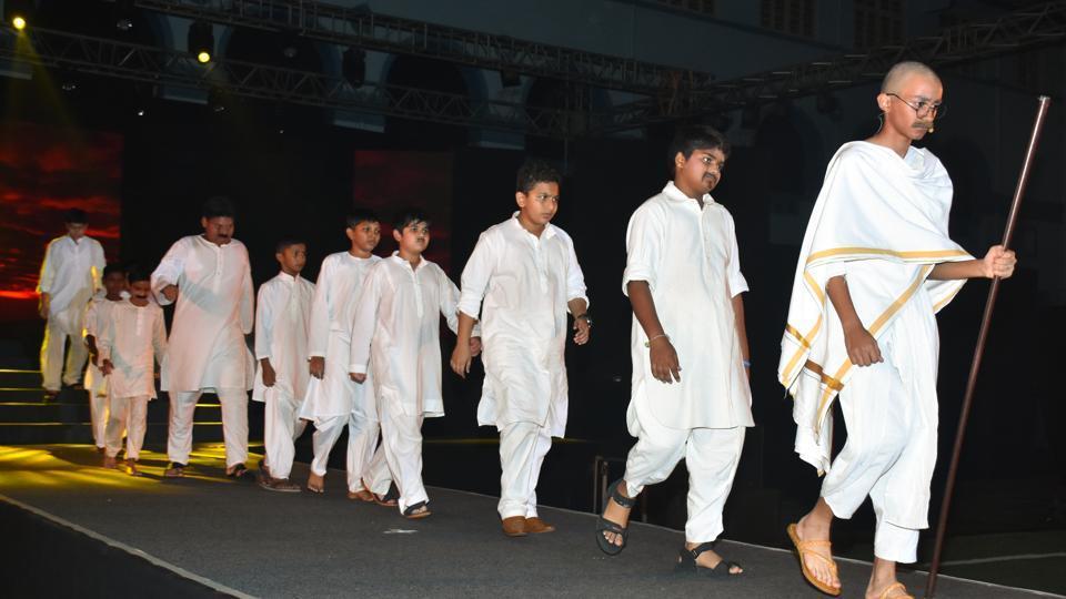 Don Bosco International School, Matunga, paid homage to Mahatma Gandhi on their 6th Annual Thanksgiving Day.